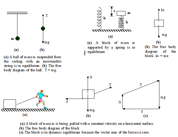 Chapter notes newtons law of motion physics class 11 dronstudy some other examples of static equilibrium are shown in the following figures ccuart Image collections