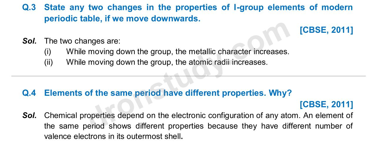 Periodic Table 10th element on the periodic table : Class 10th  Class X CBSE Periodic Classification of elements ...