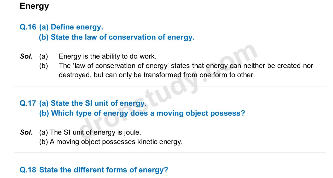 question set on work and power Work, energy and power newton's second law and the work-energy theorem conservative forces, non-conservative forces and the definition of potential energy.