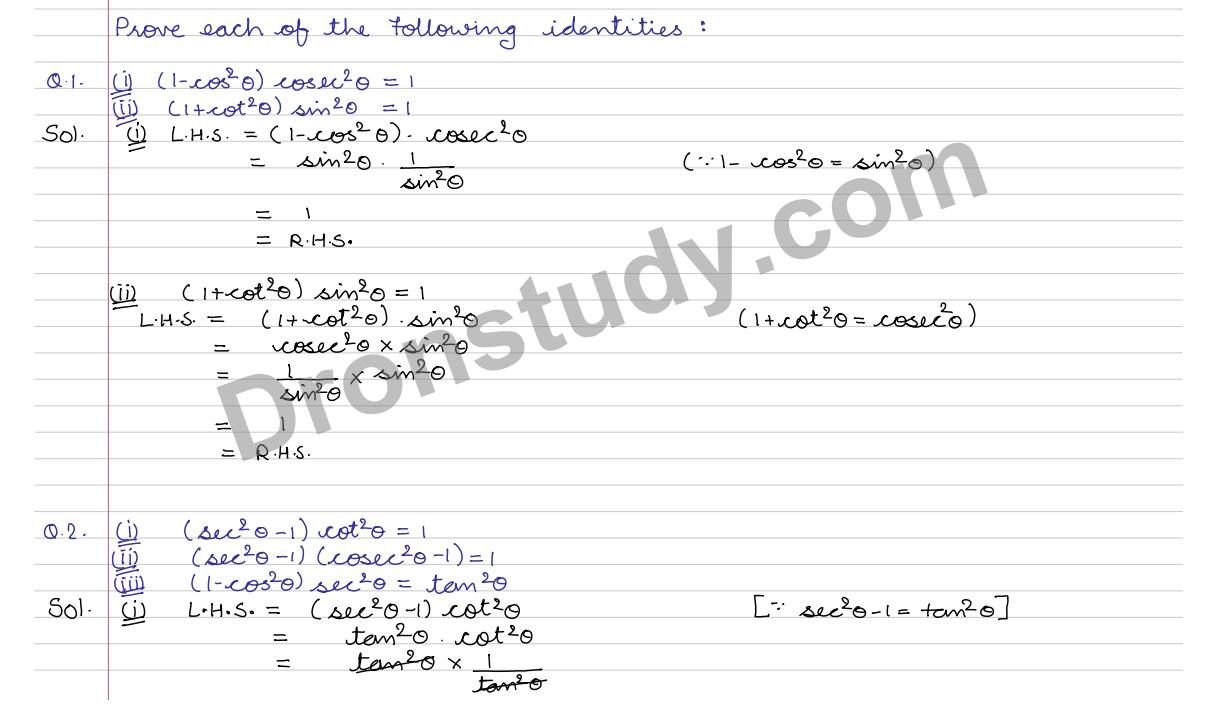 worksheet Proving Identities Worksheet With Answers trigonometric identities ex 7a q 1 to 25 r s aggarwal click here watch second part
