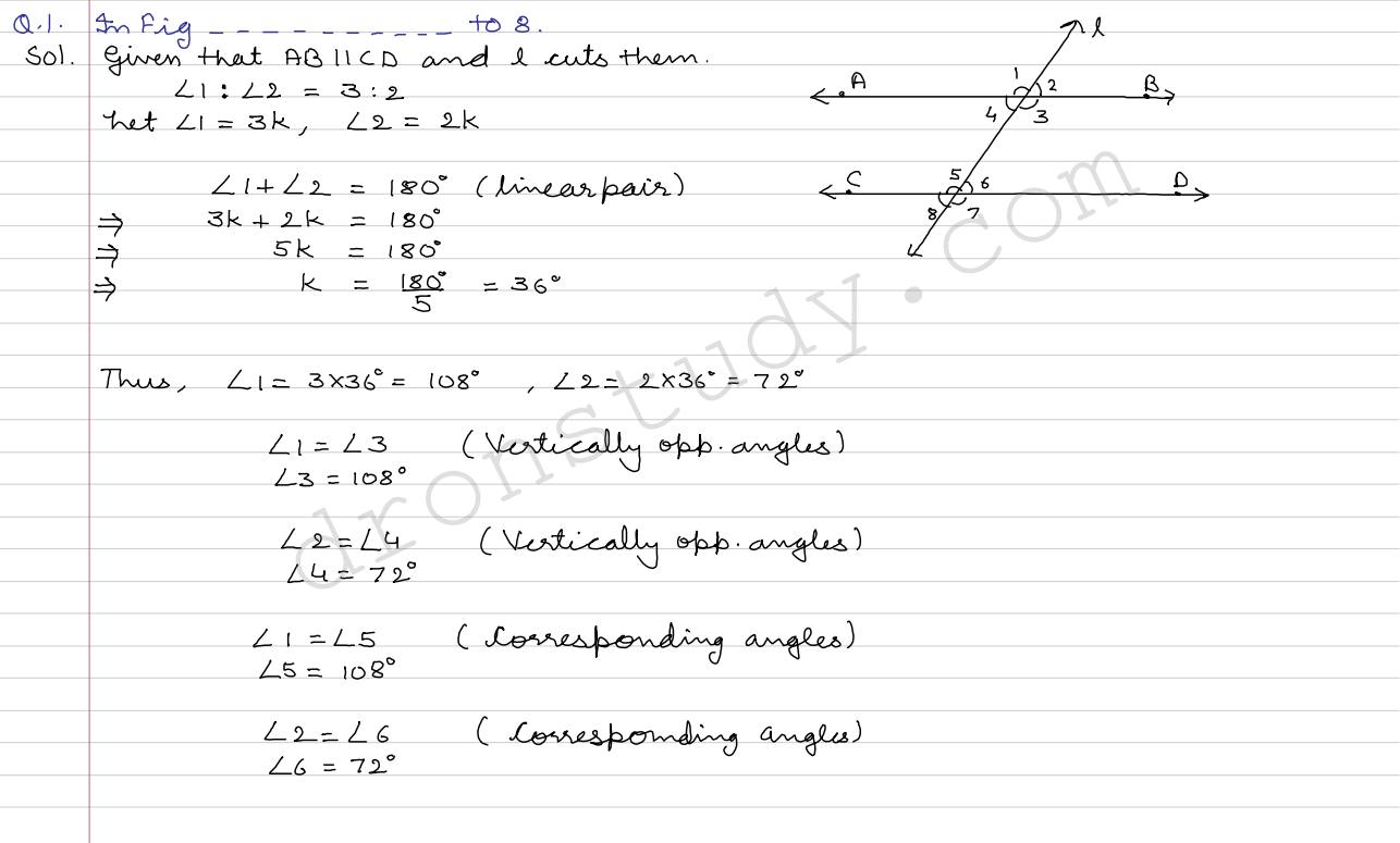 lines and angles 9th maths 9th maths lines and angles important terms (a) segment: a part of line with two end points is called a line-segment a line segment is denoted by ab and its length is is denoted by ab (b) ray: a part of a line with one end-point is called a ray we can denote a line-segment ab, a ray ab and length ab and line ab by the same symbol ab.