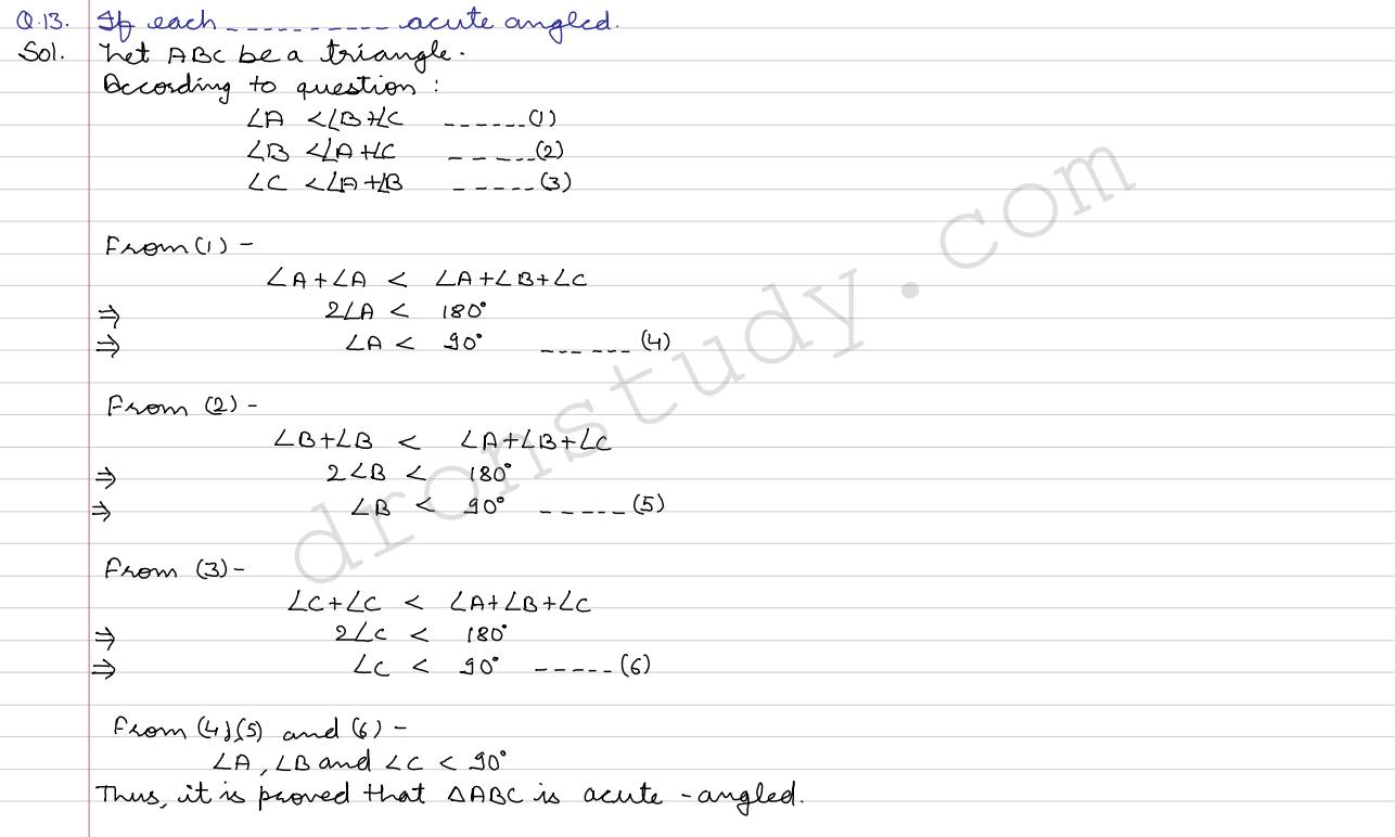 angles lines and triangles ex 4d q 13 to q 26 r s aggarwal