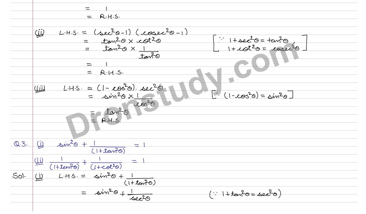 worksheet Trigonometric Proofs Worksheet trigonometric identities ex 7a q 1 to 25 r s aggarwal 2