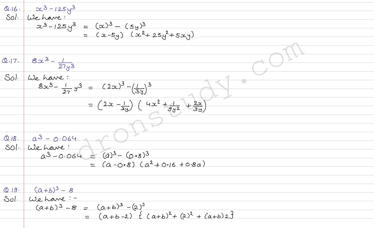 Class 9 class x cbse rs aggarwal solutions polynomials ex 2j 5 robcynllc Choice Image