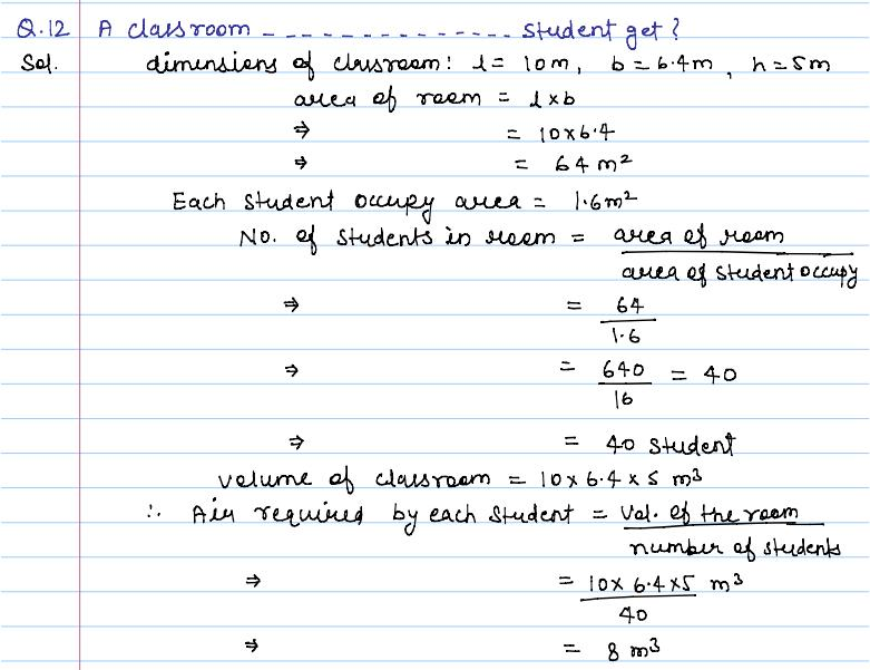 all formulas of surface area and volume class 10 pdf