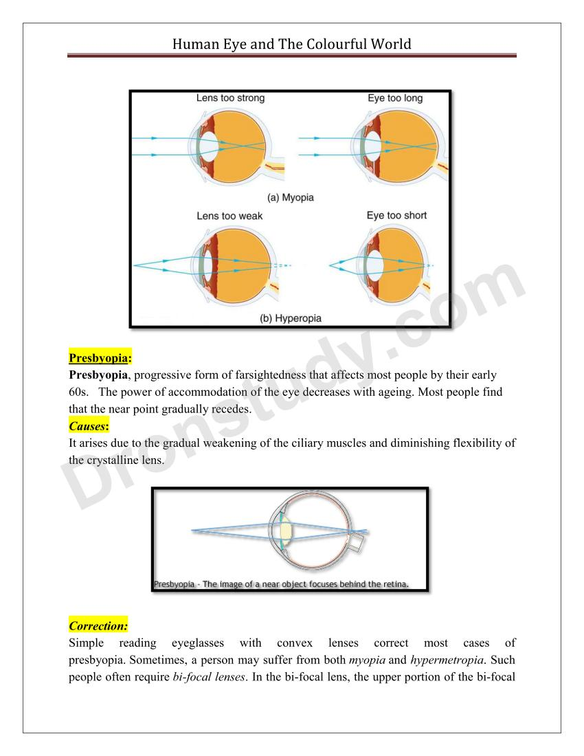 Human Eye And The Colourful World Chapter Notes Simple Diagram 13