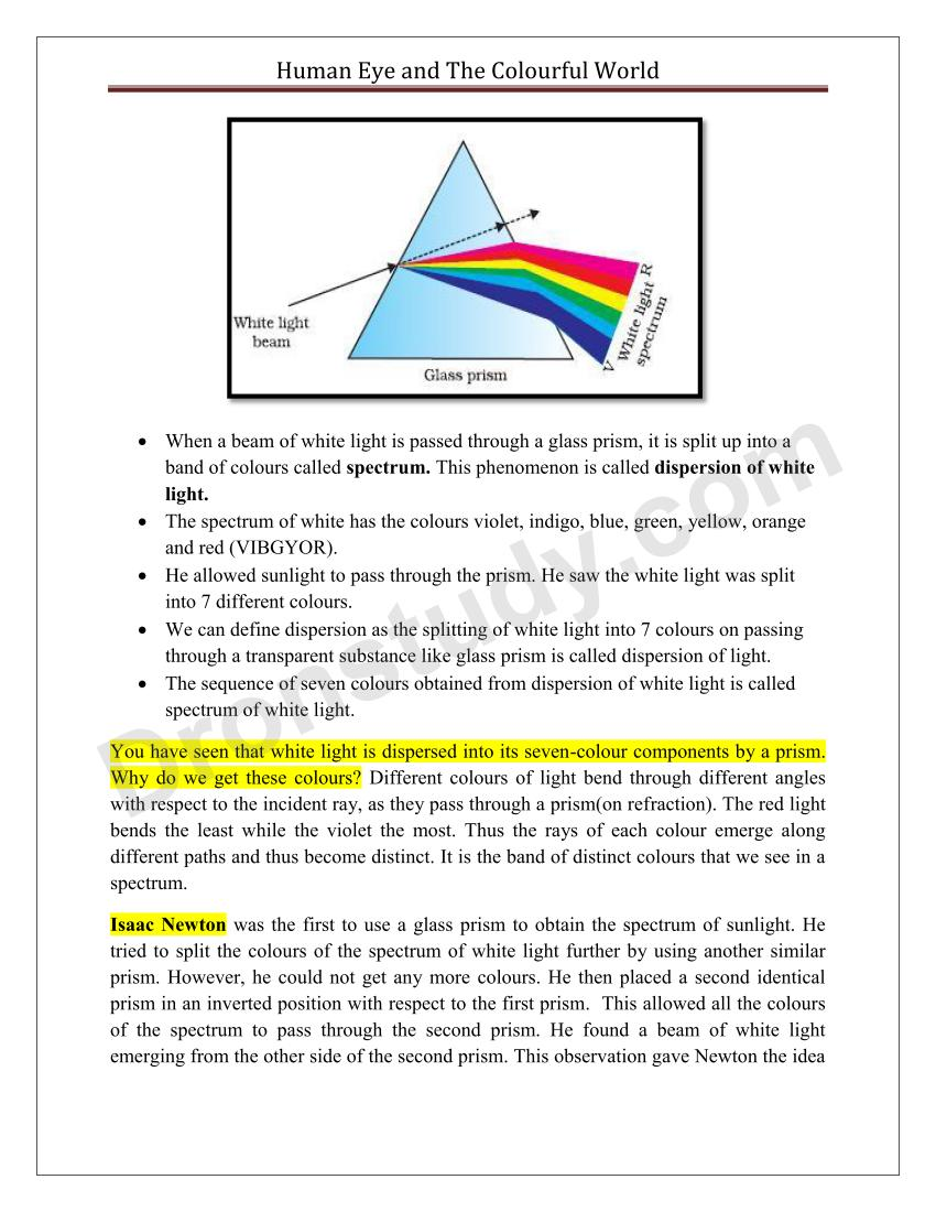 the human eye and the colourful world essay Browse ncert solutions for class 10 science chapter 11: human eye and colourful world- exercise- 1 at solution square.