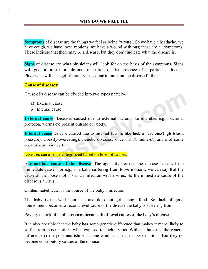 why do we fall ill Get all questions and answers of why do we fall ill of cbse class 9 biology on topperlearning topperlearning's experts and students has answered all of why do we.