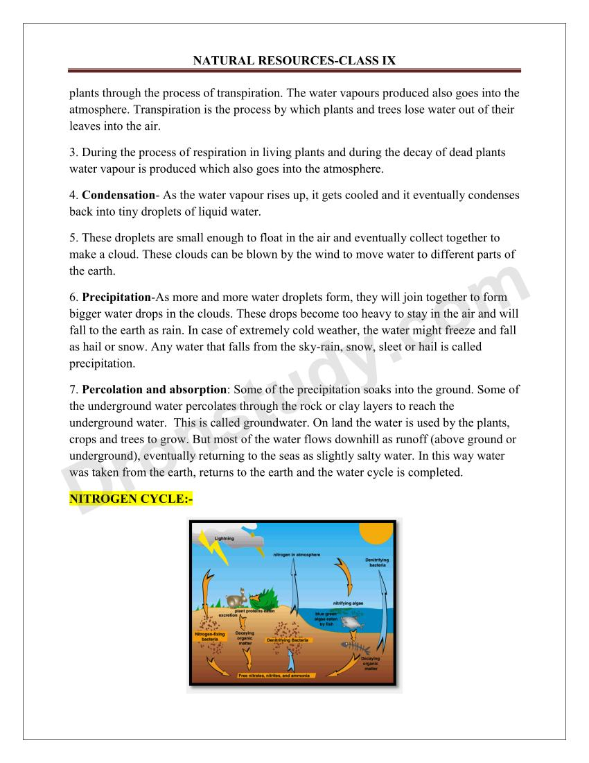 natural resources class 9 notes pdf