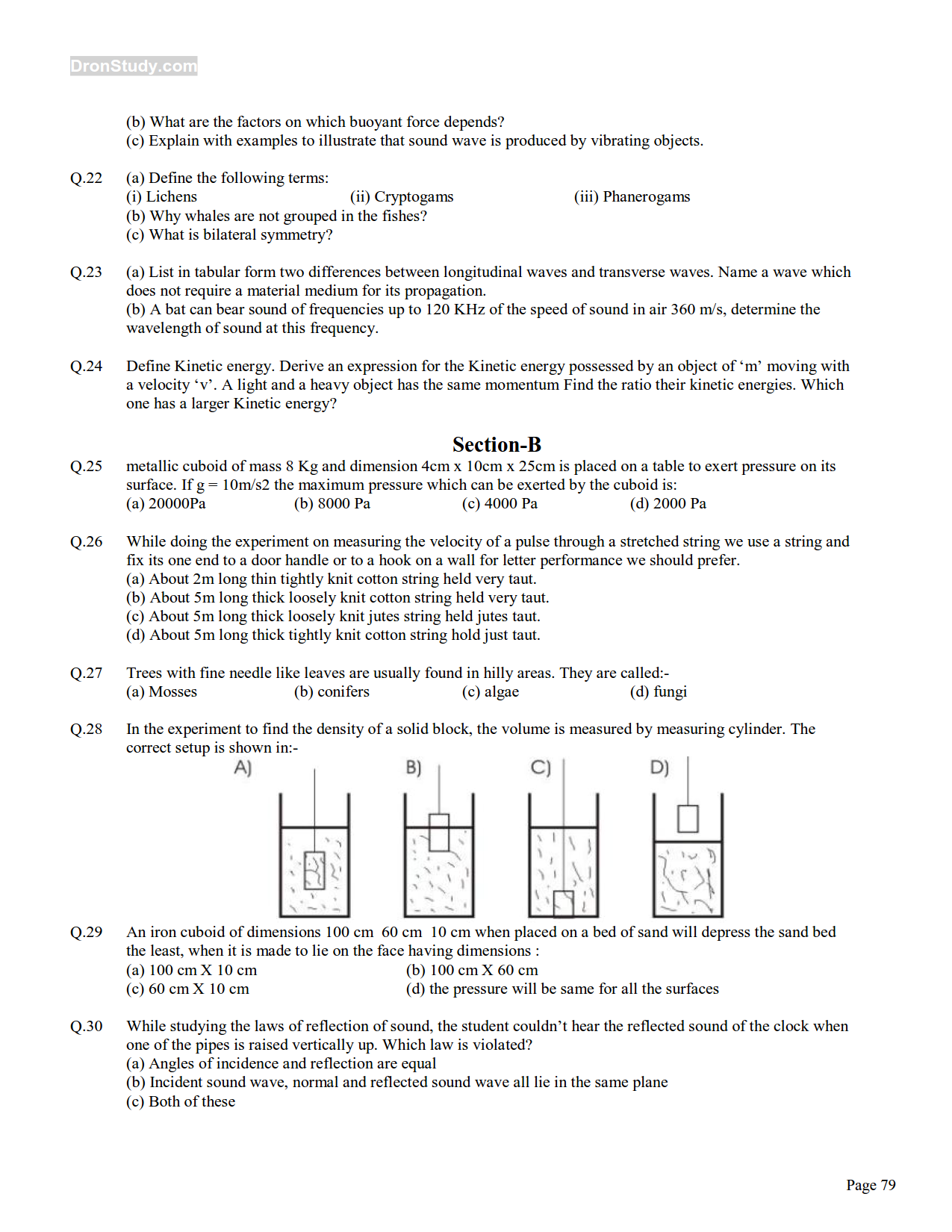 Sample science paper class 9 - ICSE syllabus for class 9