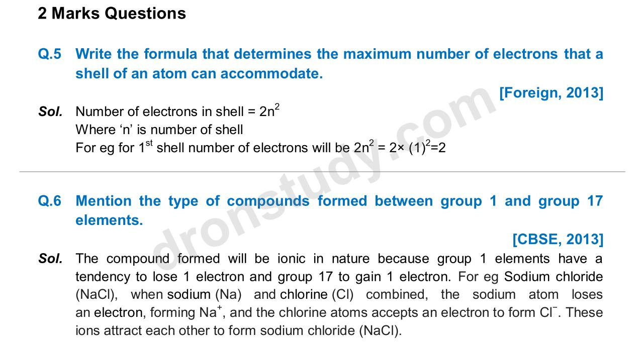 Previous Year Questions - Periodic Classification_03