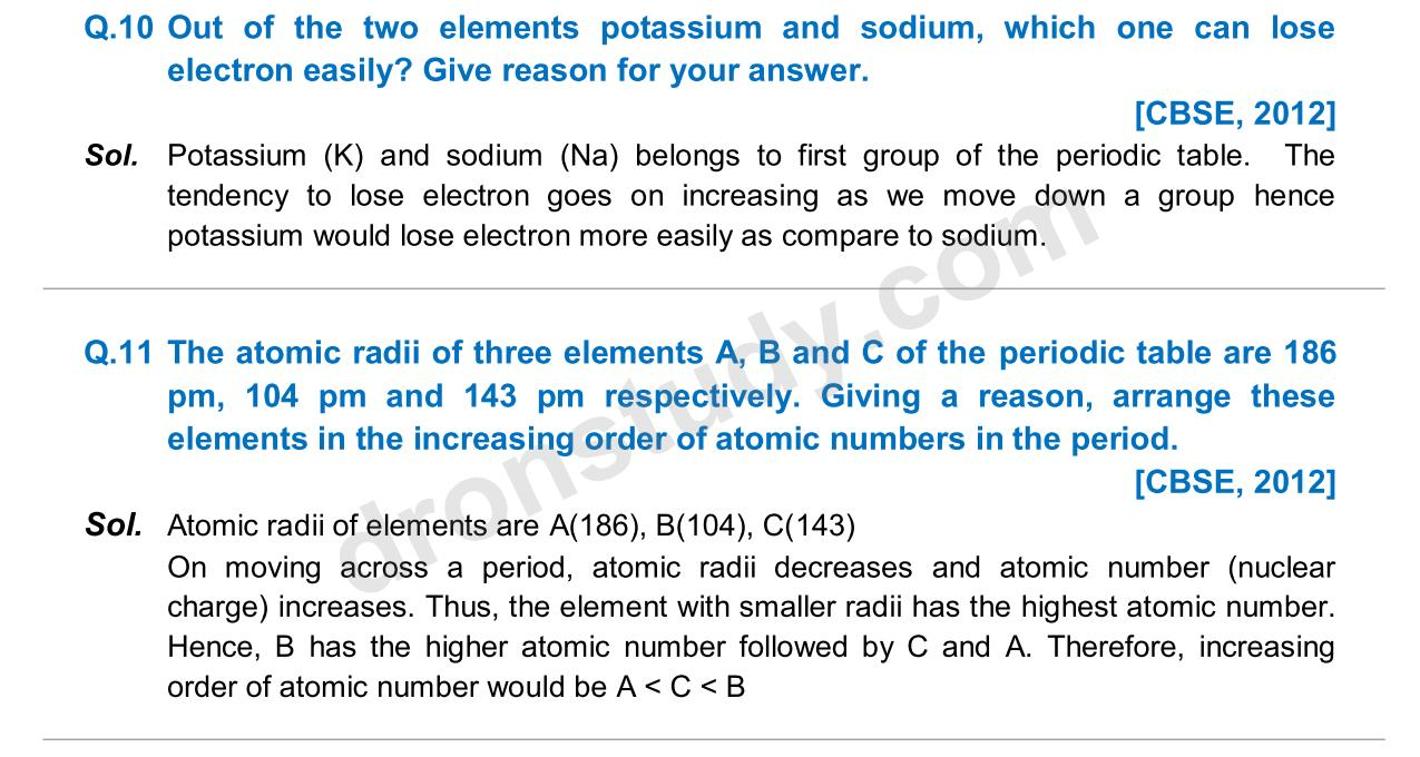 Previous Year Questions - Periodic Classification_06