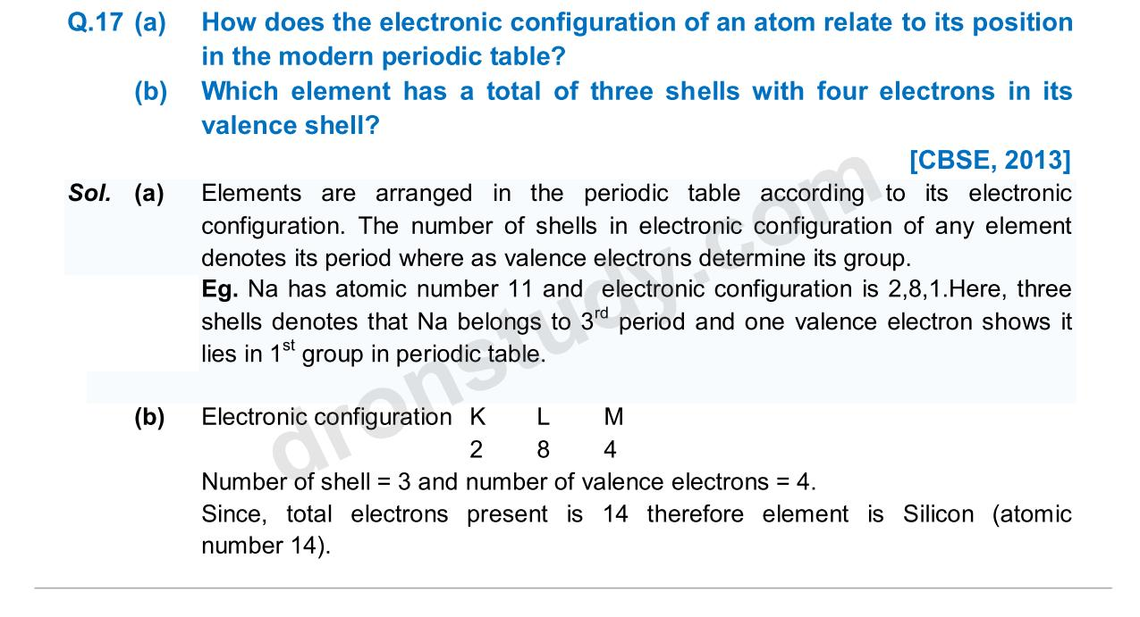 Previous Year Questions - Periodic Classification_11