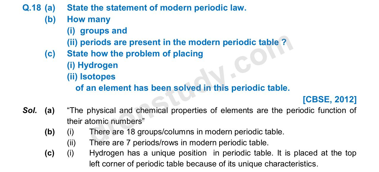 Previous Year Questions - Periodic Classification_12