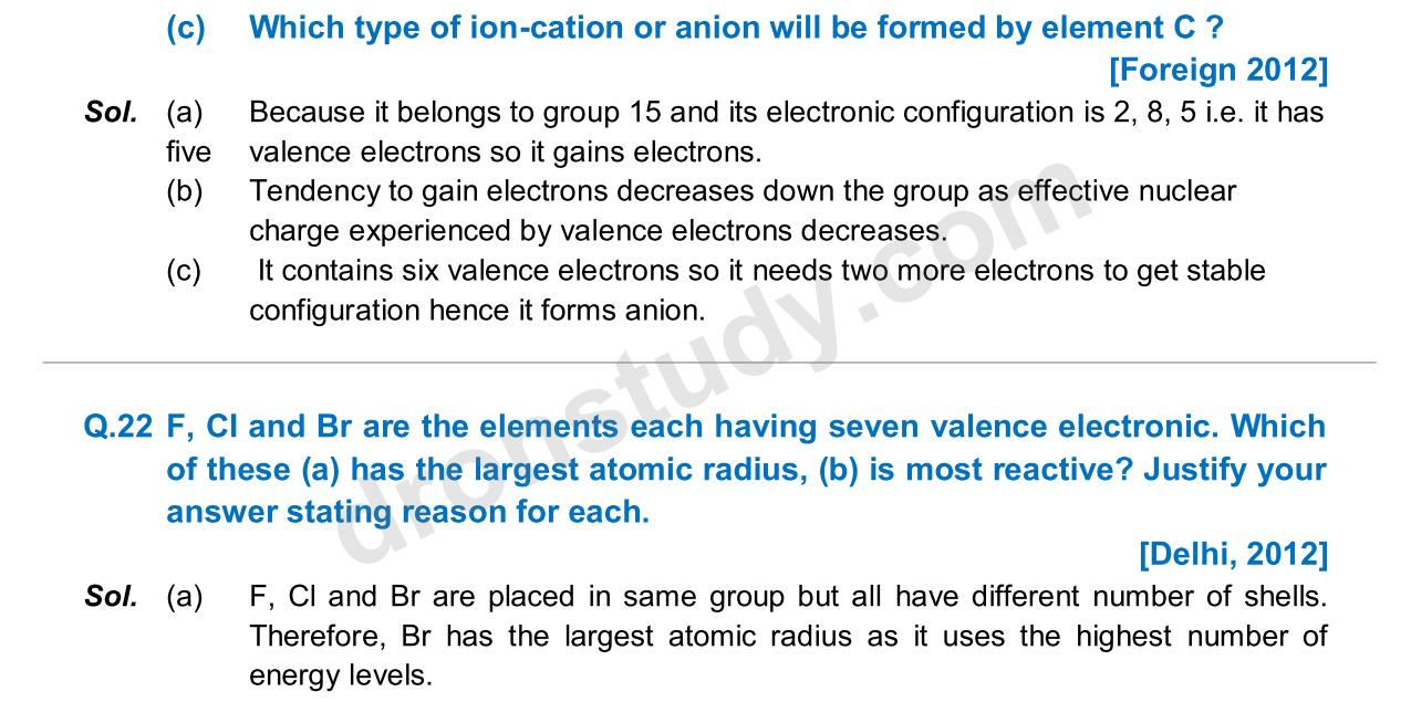 Previous Year Questions - Periodic Classification_15