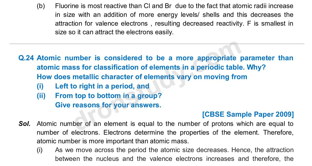 Previous Year Questions - Periodic Classification_16