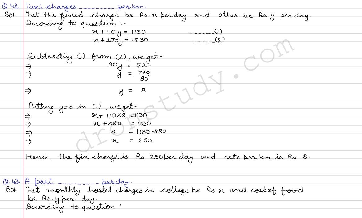 Workbooks linear equations in one variable worksheets for class 8 : class 10 | Class X CBSE R.S. Aggarwal Solutions Linear Equations ...