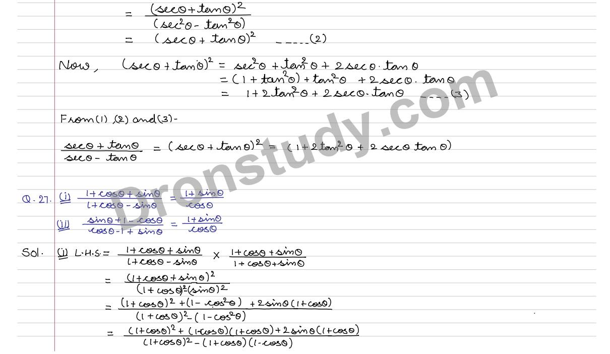 Trigonometric Identities : Ex 7A Q.26 to Q.38 (R S Aggarwal ...