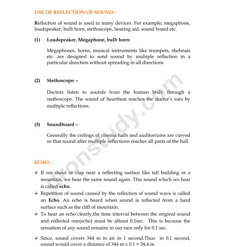 Workbooks hearing and sound grade 3 worksheets : CBSE Class 9 Physics : Sound - Chapter Notes | DronStudy.com
