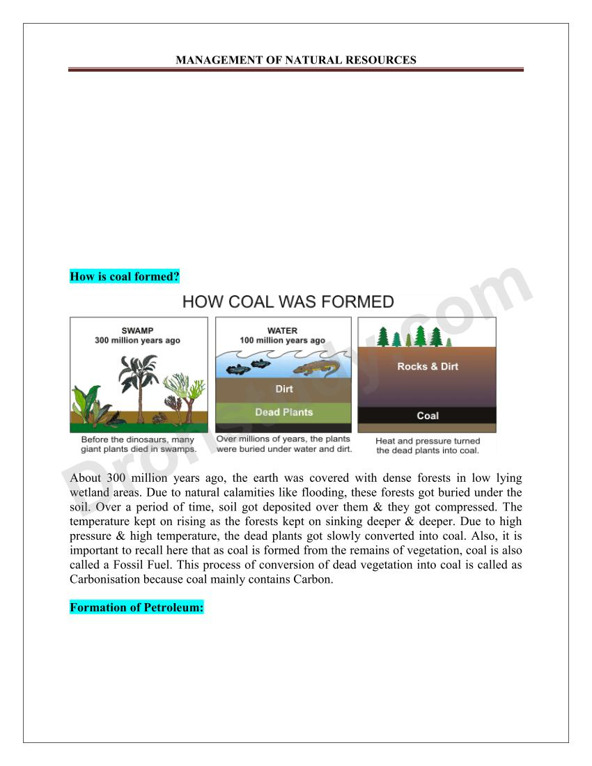 Management Of Natural Resources Class 10 Notes Pdf
