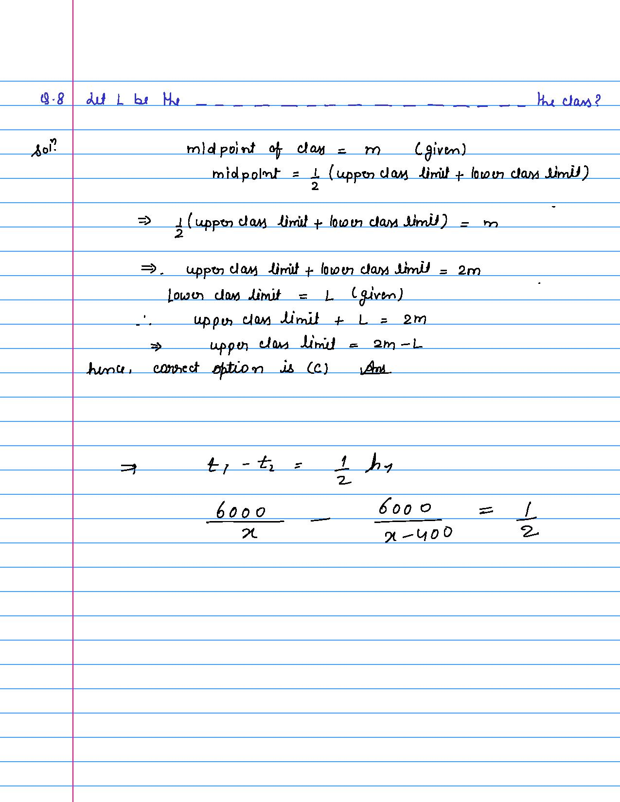 solution of MCQ questions of statistics of class 9th-page-008