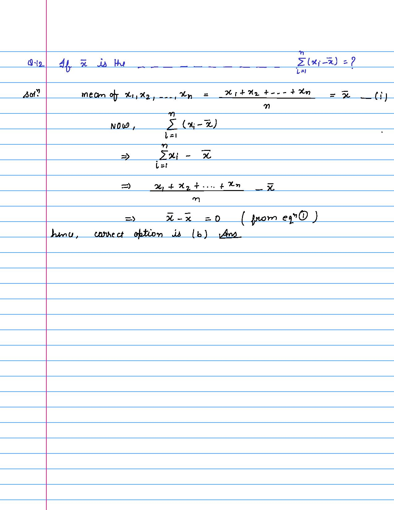 solution of MCQ questions of statistics of class 9th-page-012