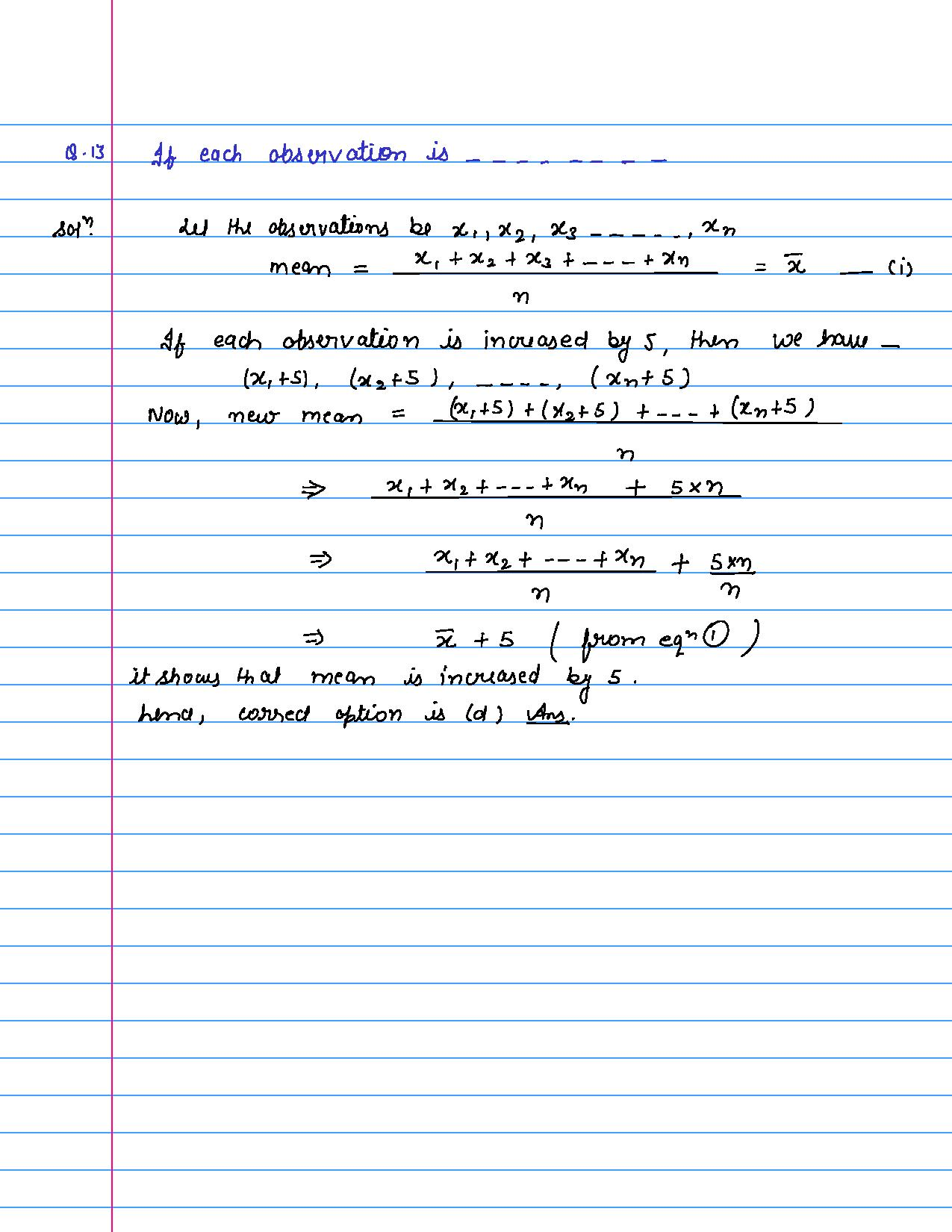 solution of MCQ questions of statistics of class 9th-page-013