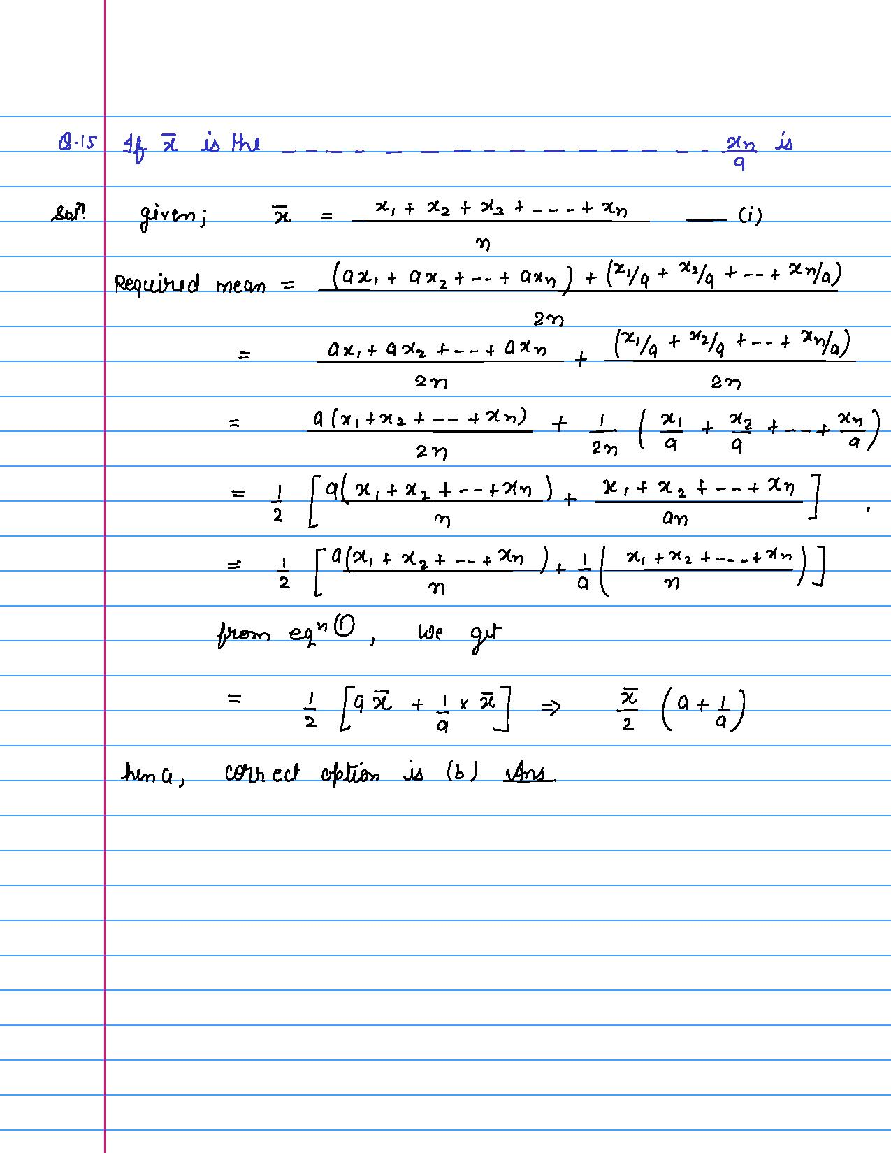 solution of MCQ questions of statistics of class 9th-page-015