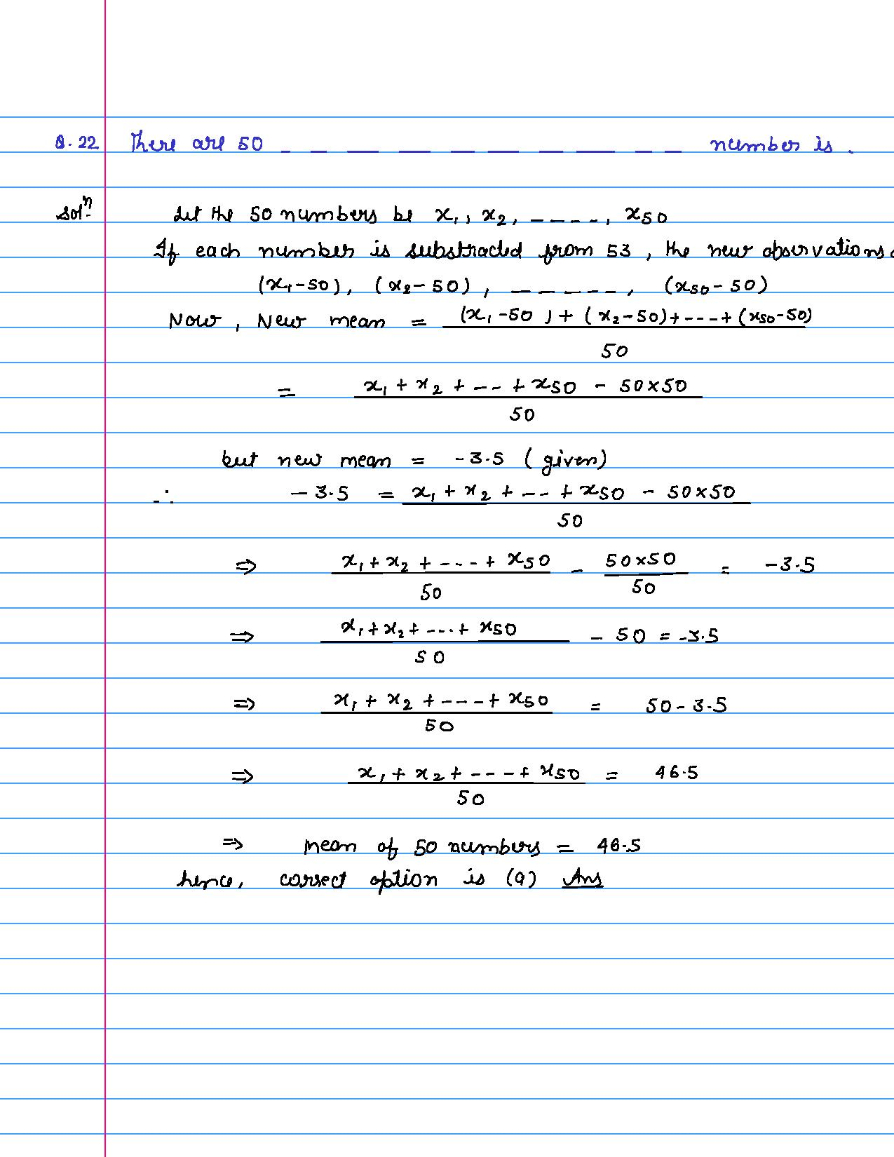 solution of MCQ questions of statistics of class 9th-page-022