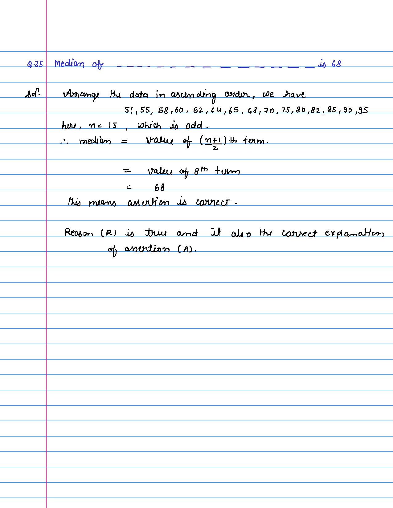solution of MCQ questions of statistics of class 9th-page-035