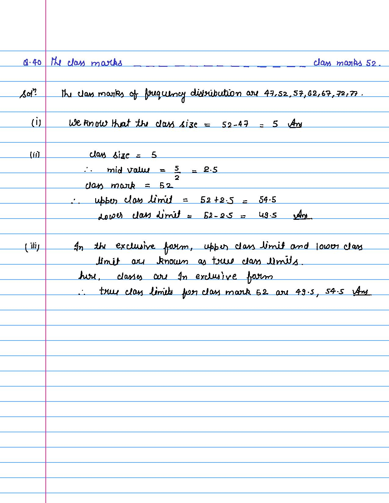 solution of MCQ questions of statistics of class 9th-page-041