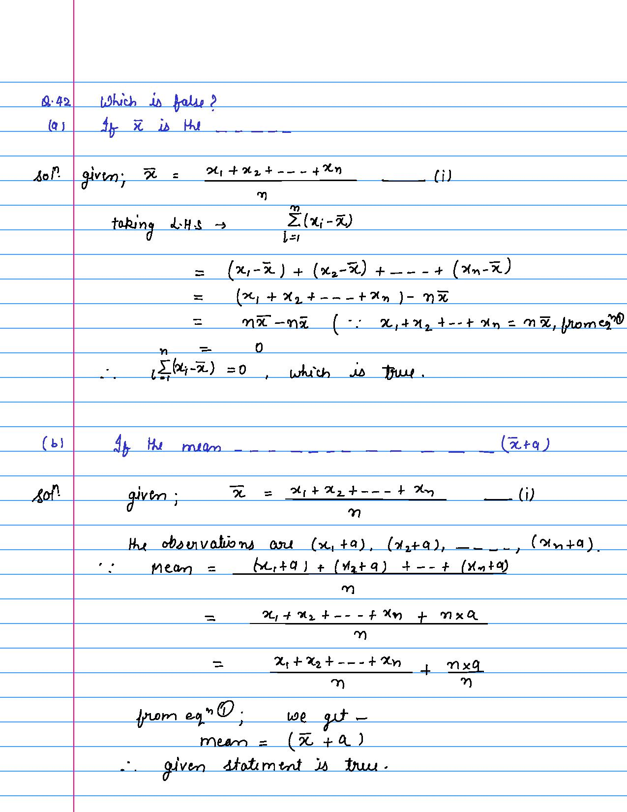 solution of MCQ questions of statistics of class 9th-page-043