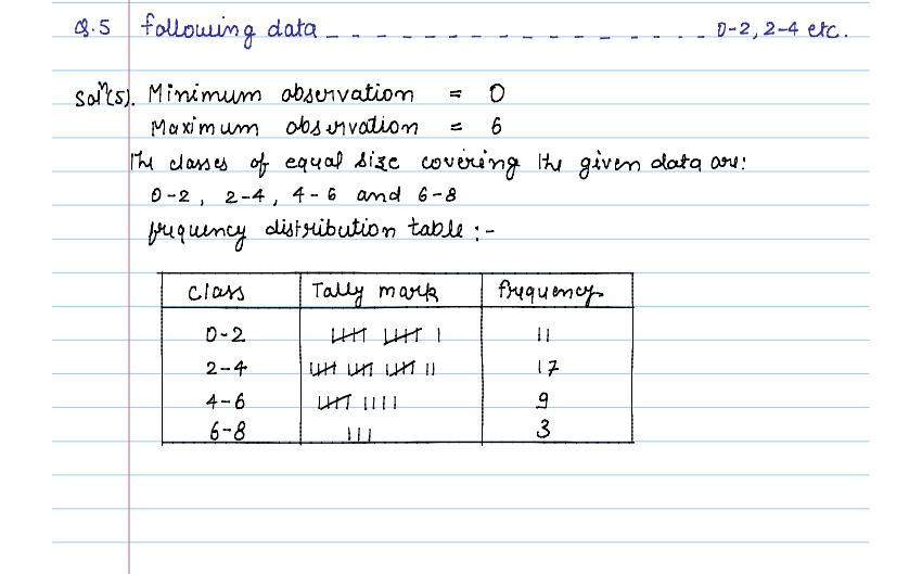solution of exercise _14A statistics of class 9th by jiendra_06