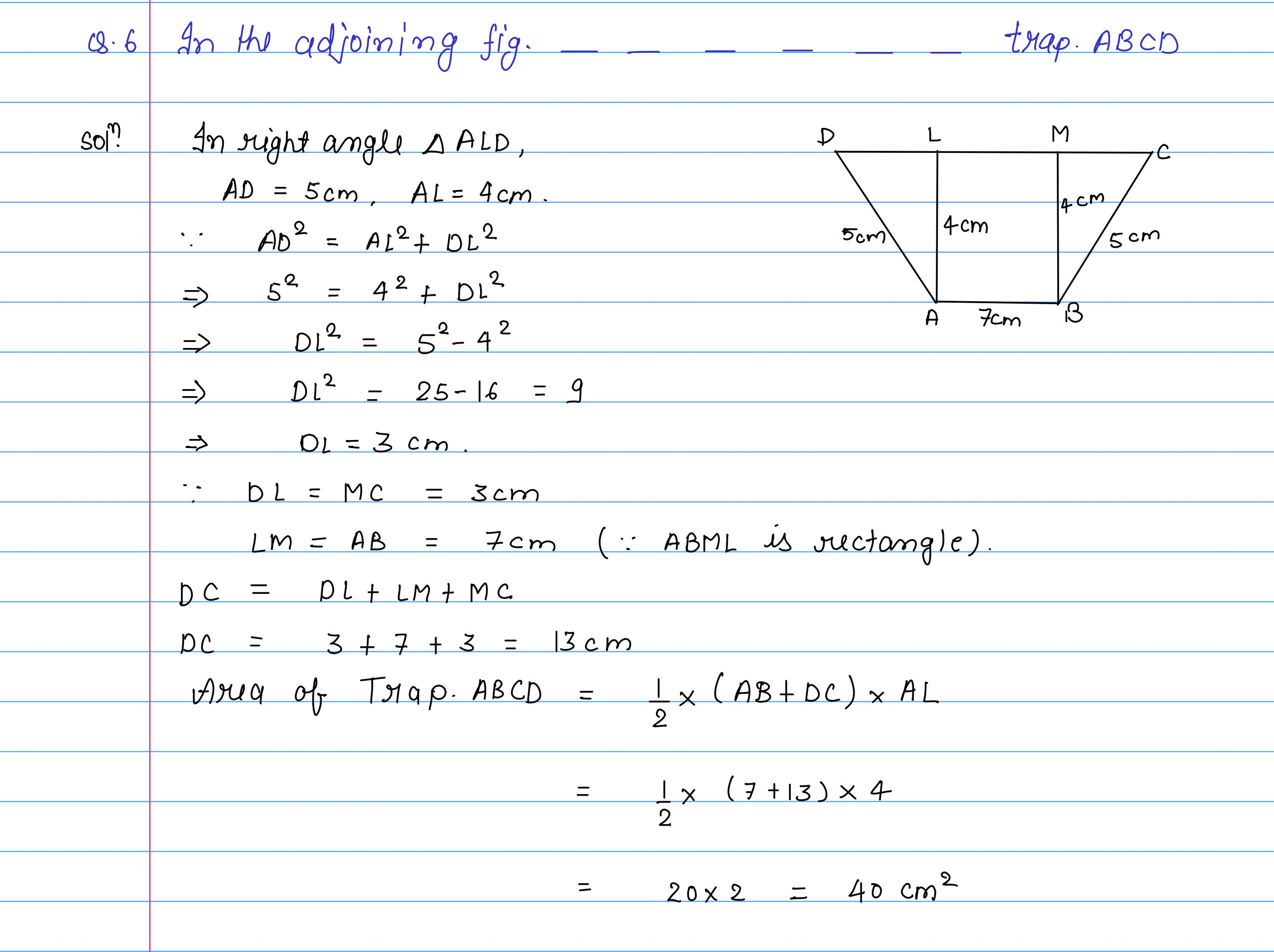 corrected solution exercise-10A area of llgm_07