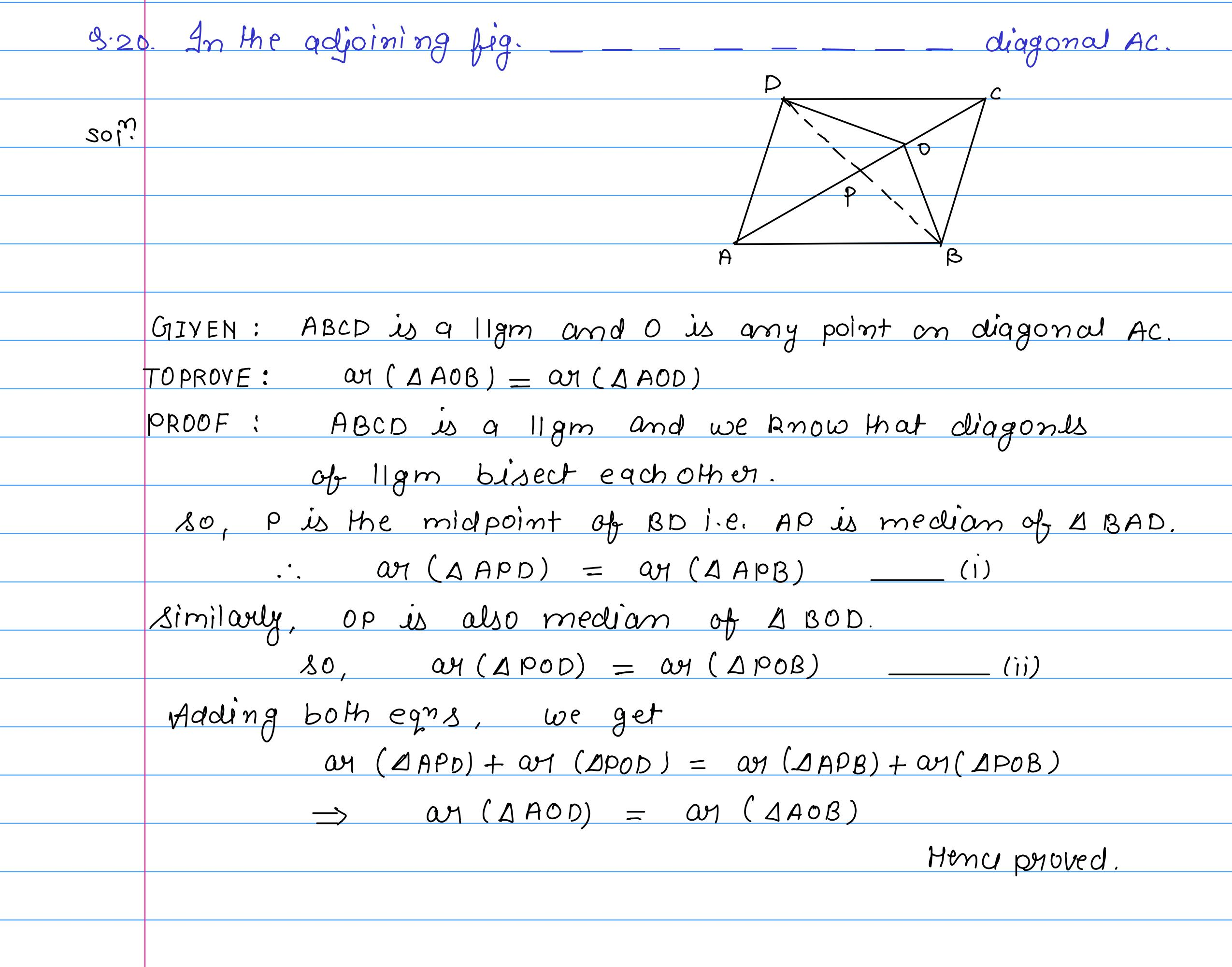 corrected solution exercise-10A area of llgm_22